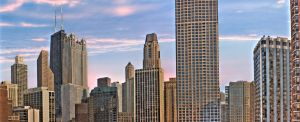 Chicago Sunset HDR by deluxe5584