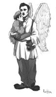 an angel and a kid by rotten-vermillion