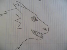 Spiked Dragon Doodle by PlagieTheCreep