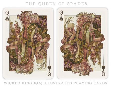 Card Art: The Queen of Spades by wylielise
