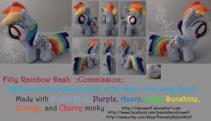 MLP Filly Rainbow Dash ::Commission:: by RubioWolf