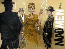 MAD MEN feat JOAN by urban-barbarian