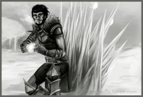 Snowball fight - Hawke by Zwierze1993