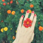 Flower ring by decamy