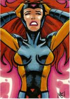 Jean Grey ACEO sketch card by MasonEasley