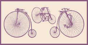 Olde Tyme Bike Vectors by ZombiePoppa