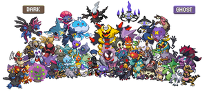 All Dark and Ghost Pokemon by ZomZoomg