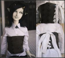 Leather Doll Corset by pervyfaerie