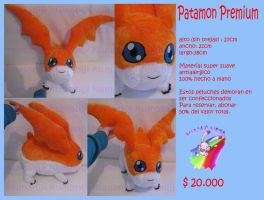 Patamon premium hand made plush by chocoloverx3