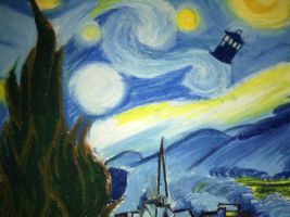 Doctor Who: TARDIS Starry Night (Van Gogh Style) by Skye-Jones