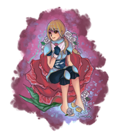 [Commission] Girl of roses and seashells by lydia-san