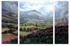 Langdale Valley Triptych 2015 by Krystalvoyager