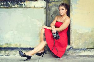 saucy in red by FDLphoto