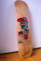 Crazy Monkey Skateboard Art by No-Name-01