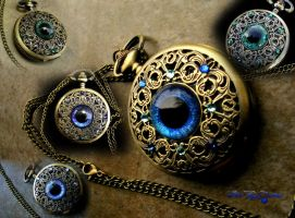 Custom Order a Slit Pupil Regal Pocket Watch - R by LadyPirotessa