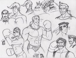 Punch-Out Practice Sketches by IzIzIza