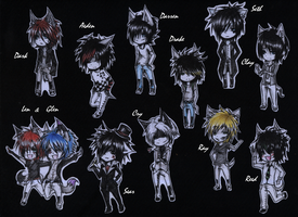 Chibies with names :3 by xXxSingOutxXx