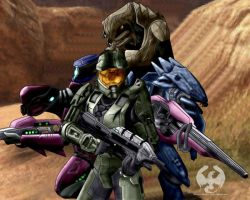 Halo 3 Co-op Characters by Angelic-Dragon