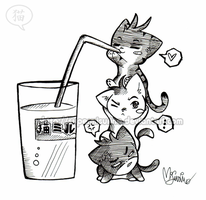 cat-team: milk by SuperMisurino