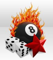 Flaming 8 Ball by Scott-Windon