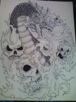 Dragon tattoo design by Nigrecent