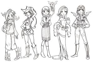 My Little Pony Girls WIP by gambitgurlisis
