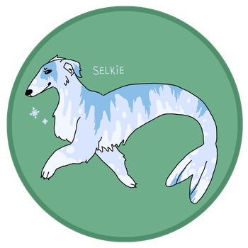 [ADOPTED] Merpup: Borzoi/Harp Seal Mix by geckobud