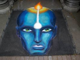 Pavement Art 'Idea' by CptMunta