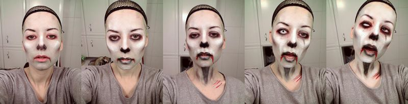 Zombie Make-up Tutorial by burcuaycan