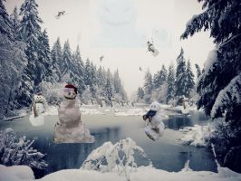 Snowmanlandscape by gomotion100