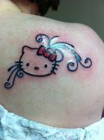 Hello Kitty Tattoo by magickmaster