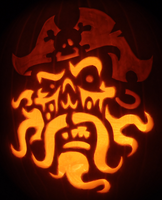 Ghost Pirate Pumpkin by johwee