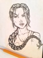 Lara Croft Tomb Raider Sketch by MelonieMac