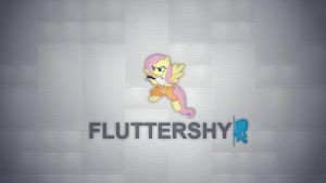 Fluttershy - Portal Style - Wallpaper by Prollgurke