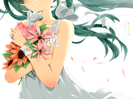 {Hatsune Miku} Flowers Render ~ by MikuShooter