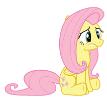 Sad Fluttershy by Rubez2525
