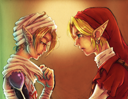 LoZ OoT: Sheik Secret by Kathisofy