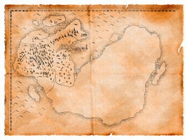 Parchment map by FecarytheLion