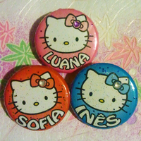 Hello Kitty glittery badges by Cheila