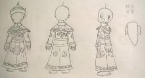 Emperor Chiaotzu clothing reference by Sepseriis