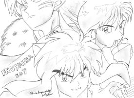 Inuyasha Group Boy: My first Drawing by MsYelenaJonas