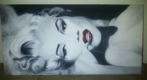 Marilyn Monroe Laying Down by CplSarCia