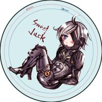 sweet raiden badge (not finished) by suzanna8767