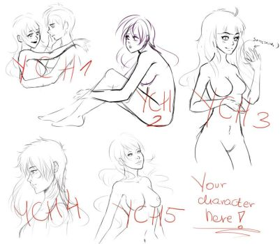YCH your character here  - CLOSED by Solceress