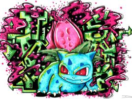 Ivysaur Graff by paintchips86