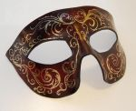 Dark Red Corolla Leather Mask by Shadows-Ink