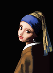 Girl With A Pearl Earring by sira16inu