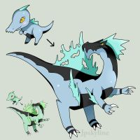 Fakemon: Spiino + Spinocor by Jpskyline