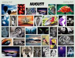 August's ACEO Cards for Charity by secrets-of-the-pen