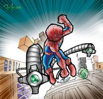 Spiderman 2 Clocktower fight. by 3niteam